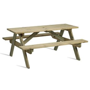 Wooden rectangular picnic table