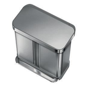 58 litre rectangular waste bin with liner pocket