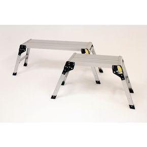Folding rectangular aluminium work platforms