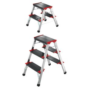 High strength folding aluminium step stools
