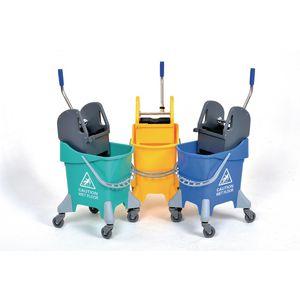 Deluxe press wringer mop bucket