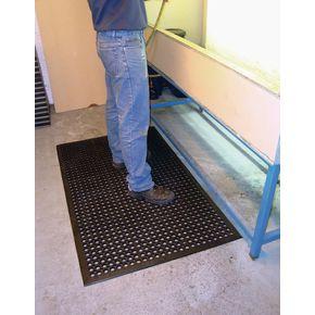 Budget anti-fatigue rubber duckboard mats