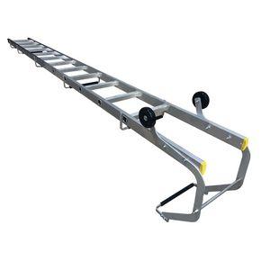 Lightweight steel and aluminium roof ladder