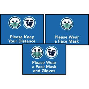 Face mask logo mats
