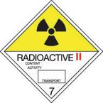 Iata/icao (labels in rolls with class numbers) - Radioactive 2