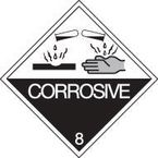 Iata/icao (labels in rolls with class numbers) - Corrosive