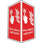 Projecting fire equipment signs - Fire alarm call point