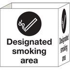 Cube signs - Designated smoking area