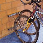 Wall mounted cycle rack - 2 bike capacity