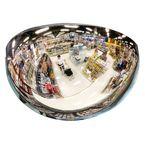 Half 180° hemispherical mirror