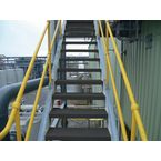 Flooring - Anti-Slip Treads Stair Tread 595X195X40Mm, Bk