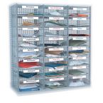 Mail sorting units, additional column of 6 shelves for 'easy sort' shelf type