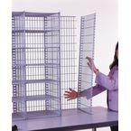Mail sorting units, additional column of 8 shelves for 'easy sort' shelf type