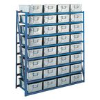Tote pan rack - shelf levels - With horizontal pans