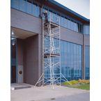 Large platform, heavy duty aluminium span towers