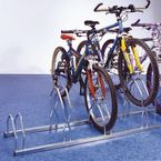 Staggered height floor / wall mounted cycle racks - zinc finish