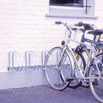 Wall and floor mounting cycle rack - 4 bike capacity