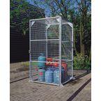 Gas cylinder storage cage
