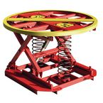 Spring operated levelling pallet positioner, capacity 2000 kg