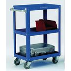 Adjustable tray trolleys with three shelves , H x W x L - 900 x 400 x 670mm