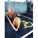 Road markings - letters, numbers and symbols