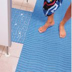 Leisure safety mat - Blue - Available as 15m roll, cut length or mat