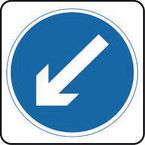 Warning information & regulation signs - Arrow down left