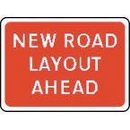 Warning information & regulation signs - New road layout ahead