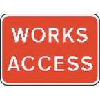 Warning information & regulation signs - Works access