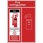 Fire extinguisher location panel CO2