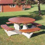 Concrete picnic bench - round