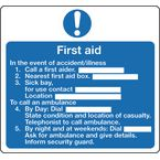 Safe condition and first aid signs - First aid sign - instructions