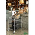 Economy stainless steel trolleys with 3 shelves 685 x 380mm