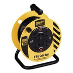240V Light industrial cable reel, 20 metres long with 4 outlets