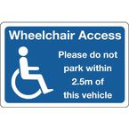 Sign wheelchair access