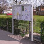 Freestanding outdoor noticeboards
