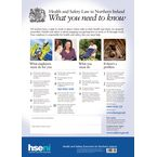 Guidance posters - Northern Ireland Health and Safety Law poster