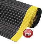 Anti Fatigue Mat With Slip Resistant Backing 910 X 600 Black / Yellow