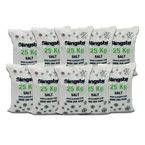 White de-icing salt - 10 x 25kg bags
