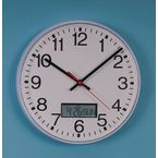 Commercial quartz movement/LCD calendar wall clock