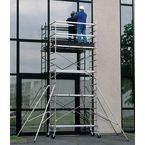 Folding aluminium work platform - Platform heights to 4.7m - Wheel kit sold separately
