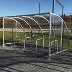 Panelled modular cycle shelter - starter bay