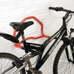Folding 2 bike wall mounted cycle rack