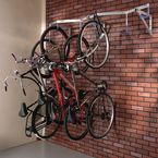 Wall mounted cycle hook rack - 6 bike capacity