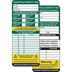Scaffold safety management tags