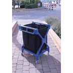 Folding laundry trolley with  heavy duty canvas bag