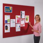 Frameless felt covered office noticeboard