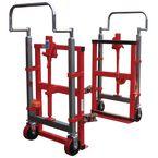 Furniture & equipment mover set, capacity 1800kg