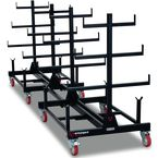 Pipe rack mobile storage unit linking kit