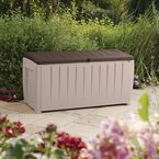 Storage box with seat